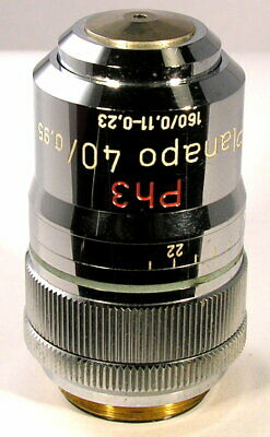 Carl Zeiss Ph3 Planapo 40X/0.95 NA, Korr., 160/0.11-0.23 Microscope Objective!