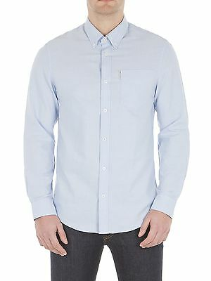 Ben sherman Uomo Cotone Camicia Oxford Regular Manica Lunga Colletto Button-Down