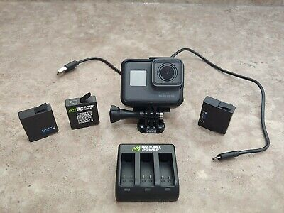 GoPro Hero 5 Black Camcorder with 3 batteries and multi port charger - Used