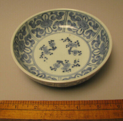 Blue and White Porcelain Bowl Japanese Made for Chinese Market Arita