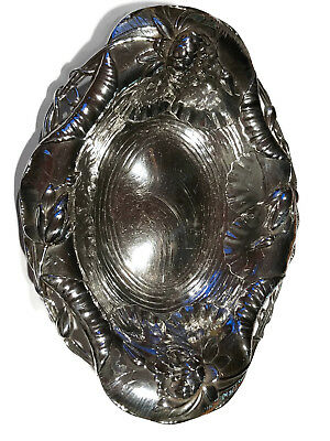 Black Starr & Frost Sterling Floral Repousse Dish