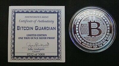 Bitcoin Guardian Anonymous Mint 1 oz Silver Proof First Batch 252/3000