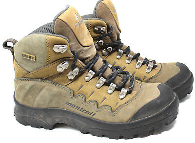 36574dad752 MONTRAIL HIKING TRAIL Boots Shoes Womens 6.5 Brown High Top Lace Up  Gore-Tex 6-5