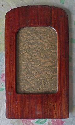 Antique Art Deco Red Wood Photo Frame
