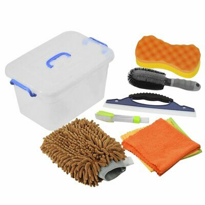 Car Wash Tool Kit Exterior and Interior Cleaning Tools in Box Upgraded