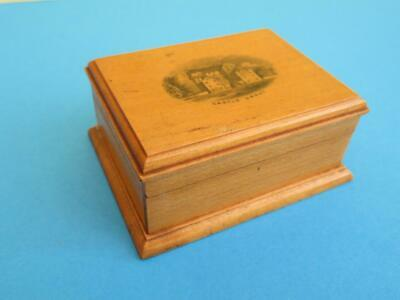 "Vintage ""mauchline Ware"" Sectioned Box*castle Grant Scotland*woodware*treen*vgc"