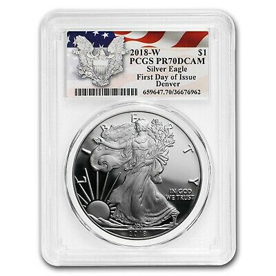 2018-W Proof Silver American Eagle PR-70 PCGS (First Day) - SKU#186039