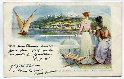 CPA - Carte Postale - France - Evian les Bains - Source Cachat - 1902 ( DD7322)