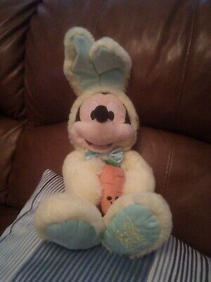 Disney Store 2019 limited edition Easter Bunny Mickey Mouse Plush with carrot