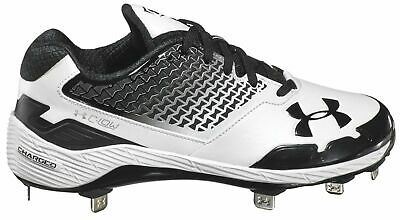 bd3fb3ffeee NEW Under Armour Womens C-Lo Softball Baseball Cleats Black White  1299908-011