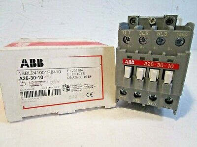 ABB A26-30-10-R81 Definite Purpose Contactor, 24 volt, 3 pole, 1 Aux(NO)