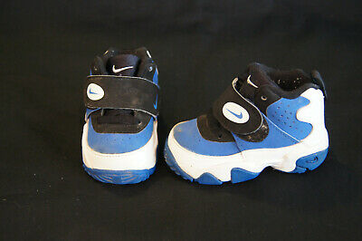 new concept d2540 6ae6c Nike Air Mission toddler size 4c white/black/true royal blue 630914-102