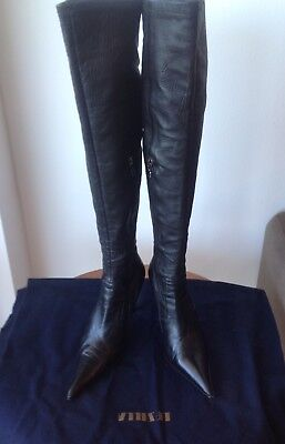 e91d5162be0 LE SILLA HIGH HEEL BLACK SUEDE OVER THE KNEE BOOTS. Size EUROPE 39 ...