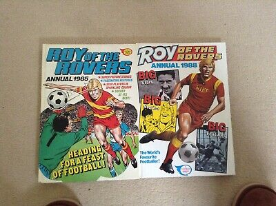 roy of the rovers annuals 1985 & 1988