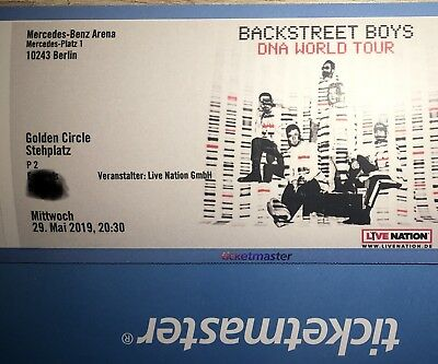 Backstreet Boys Golden Circle Stehplatz Ticket Berlin, 29.05.2019