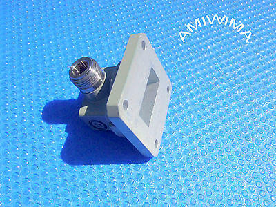 Transition Adaptor Waveguide Wr-112 Coaxial N C-Band Mdl 7.05 To 10 Ghz