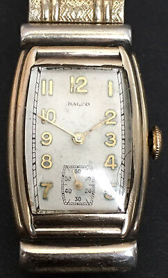 Art Deco Balco Swiss Movement 17 Jewel Watch With 10K Rolled Gold Spiedel Band