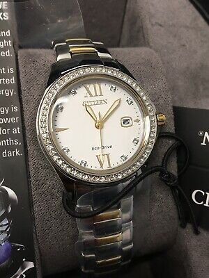 FE1144-85B Citizen Dual-Tone Stainless Steel Crystal Accented Women's Watch 274W
