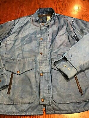 Vintage Walls Blizzard Pruf Blue Insulated Work Jacket (I1)