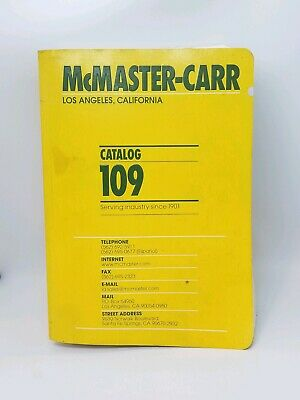 McMaster-Carr Catalog 109 Los Angeles, California