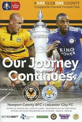 * 2018/19 - NEWPORT COUNTY v LEICESTER CITY (FA CUP - 6th January 2019) *