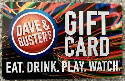 New $50.00 Dave & Buster's Gift Card Eat Drink Play Win Fifty Dollars Food Games