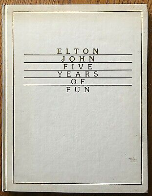 Elton John Five Years of Fun Book Signed First Limited Edition Rare No.123/2000