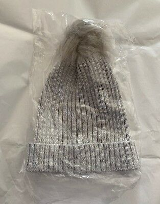 3f815330f32 Hat Attack Lightweight Ribbed Knit Hat Beanie with Faux Fur Pom  Popsugar