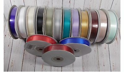 1 roll x 22 mtrs Double Sided Satin Ribbons 16mm Wide