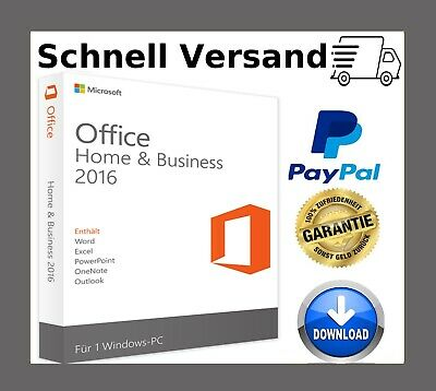 Office 2016 Home and Business Key✔1PC ✔32 / 64 Bits ✔Sofort Vesand per Email