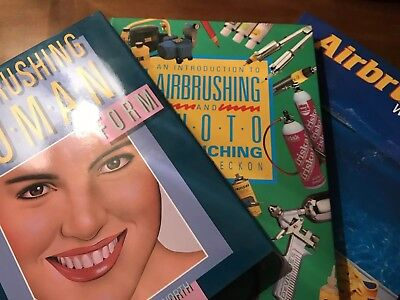 Lot of 3 Books on AIRBRUSHING. See Description