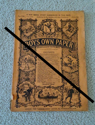 BOY'S OWN PAPER Comic/Tales - Part 136 - Pages 482 to 560  June 1890 price 6d