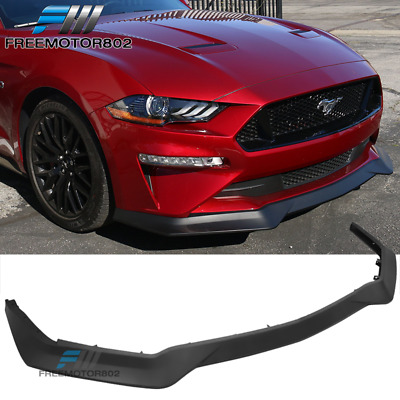 Free-Motor802 Compatible With 2013-2014 Ford Mustang V6 GT Front Bumper Lip R Style Black PP Spoiler Guard Splitter Valance Chin