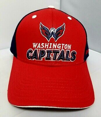 94204f0d57a Washington Capitals Face Off Headwear Adjustable Strap Hat Cap Osfm By  Reebok