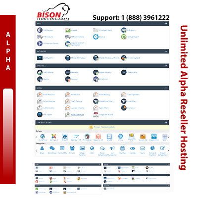 Unlimited Alpha Reseller Hosting - Super Fast SSD - 24/7 Support - 1 Year