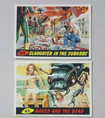 Topps MARS ATTACKS 1994 Unpublished Trading Cards #64 & #65