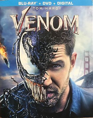 Venom (2018 Blu-Ray + Dvd) Marvel With Slipcover Tom Hardy - No Digital