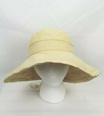 SCALA Womens Adjustable Drawstring Tan Floppy Packable Bucket Sun Garden Hat 7d7f7e8a0e7