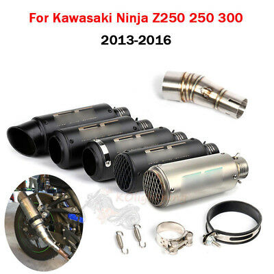 For Kawasaki Ninja Z250 250 300 Motorcycle Exhaust Pipe 51mm & Middle Link Pipe