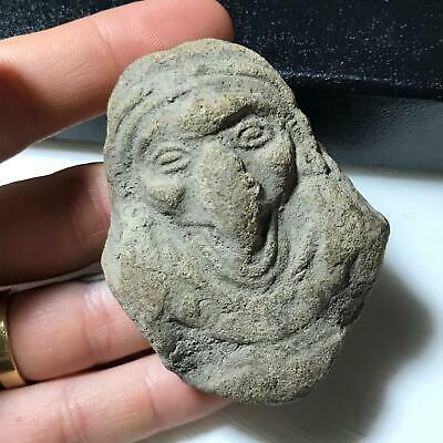 Artifact of Columbia ? Antique Art Pottery Mayan Aztec Baby Figural Doll Head