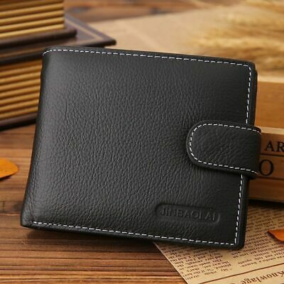Men Genuine Leather  Wallet RFID SAFE Contactless Card Blocking ID Protection