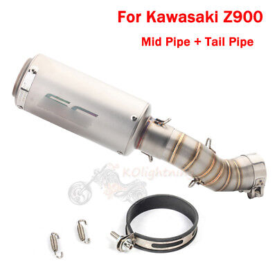 Slip On Z900 Exhaust System Pipe Tip Muffler Connect Link Pipe For Kawasaki Z900