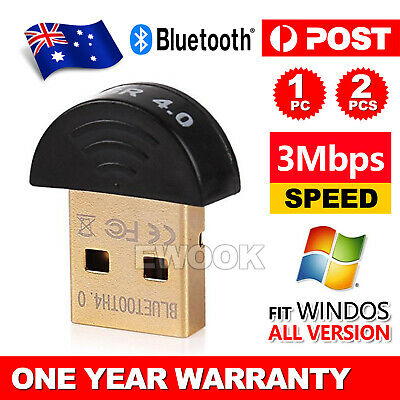 Mini Wireless USB Bluetooth Adapter V4.0 Dongle Receiver PC WIN 7 8 10 XP VISTA