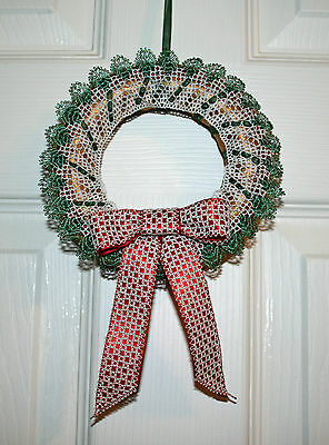 Holly Wreath Christmas Torchon Bobbin Lace Pattern Lacemaking *PATTERN ONLY*