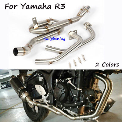 Slip On Modified Exhaust System Front Link Pipe Elbow Connect Tube For Yamaha R3
