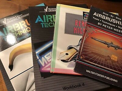 Lot of 4: AIRBRUSHING Books. See Description,