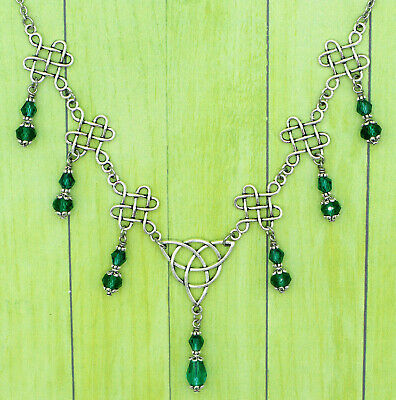 Celtic, Medieval Necklace - Antique, Retro Jewelry with Triquetra