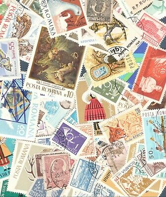 Romania Lot Of 100+ Stamps Used Off Paper Free Shipping