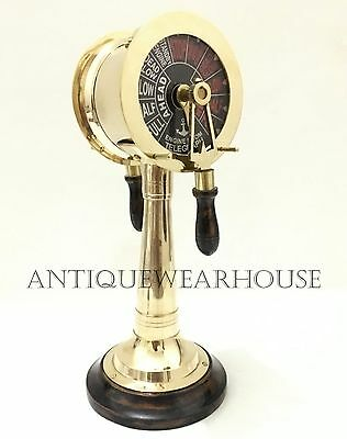 Nautical Brass Ship Telegraph Vintage Style Engine Room Collectible Gift Decor