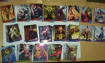 2018 Fleer Ultra X-Men Complete Mini-Master Base Set and Chase Subsets 200 Cards